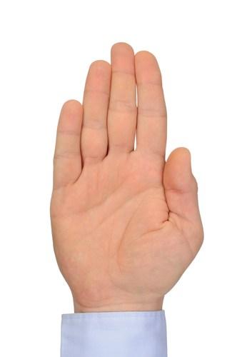 Komendy wydawane dłonią